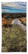 Pedernales River In Autumn Beach Towel
