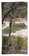 Pedernales River Pool In August Beach Towel