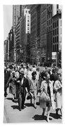 Pedestrians In New York Beach Towel