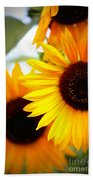 Peekaboo Sunflowers Beach Towel