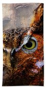 Peeking Owl Beach Towel
