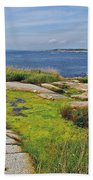 Peggy's Cove From Lighthouse-ns Beach Towel