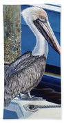 Pelican Blues Beach Towel