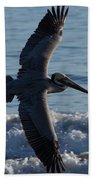 Pelican Flight Beach Towel