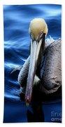 Pelican In The Bay Beach Towel