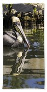 Pelican Reflected Beach Towel