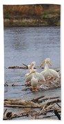 Pelican Rest Stop Beach Towel