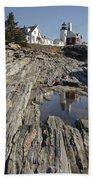 Pemaquid Point Light - Bristol Maine Beach Towel
