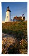 Pemaquid Point Lighthouse Beach Towel by Brian Jannsen