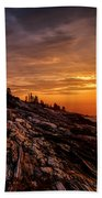 Pemaquid Sunrise  Beach Towel by Jerry Fornarotto