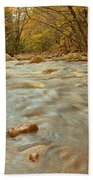 Pemigewasset River Rushing By Beach Towel