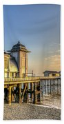 Penarth Pier Dawn Beach Towel