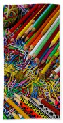 Pencils And Paperclips Beach Towel
