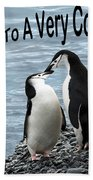 Penguin Anniversary Card Beach Towel