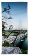 Pennybacker Bridge Austin Beach Towel