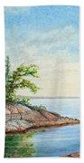 Penobscot Inlet Beach Towel