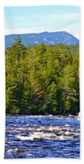 Penobscot River And Mt Katahdin Beach Towel