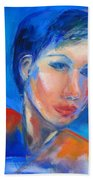 Pensive Beach Towel