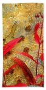 Penstemon Abstract 4 Beach Towel