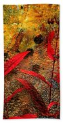 Penstemon Abstract 5 Beach Towel