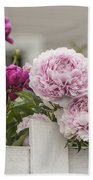 Peonies On A Picket Beach Towel