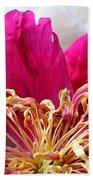 Peony Painterly Beach Towel