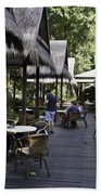 People At The Breakfast Table In A Hotel In Sentosa In Singapore Beach Towel