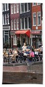 People By The Canal Beach Towel