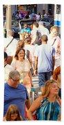 People In New York Beach Towel
