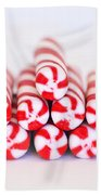 Peppermint Twist - Candy Canes Beach Towel