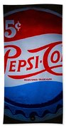 Pepsi Cap Sign Beach Towel