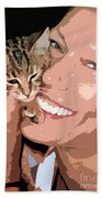 Perfect Smile Beach Towel by Stelios Kleanthous
