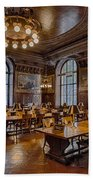 Periodical Room At The New York Public Library Beach Towel