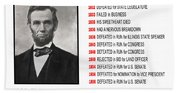 Perseverance Of Abraham Lincoln Beach Towel