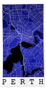 Perth Street Map - Perth Australia Road Map Art On Colored Backg Beach Towel