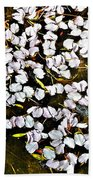 Petals In The Pond Beach Towel