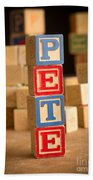 Pete - Alphabet Blocks Beach Towel