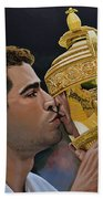 Pete Sampras Beach Towel by Paul Meijering