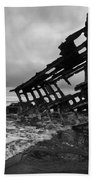 Peter Iredale Shipwreck Oregon 1 Beach Towel