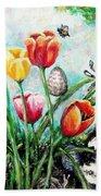 Peters Easter Garden Beach Towel by Shana Rowe Jackson
