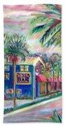 Pete's Bar In Neptune Beach Beach Towel