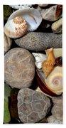 Petoskey Stones Ll Beach Towel