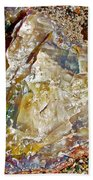 Petrified Wood In Crystal Forest In  Petrified Forest National Park-arizona Beach Towel