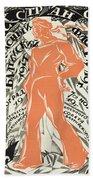 Petrograd Red Seventh November Revolutionary Poster Depicting A Russian Sailor Beach Towel