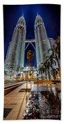 Petronas Twin Towers Beach Towel