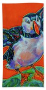 Petty Harbour Puffin Beach Towel