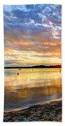 Pewaukee Vibrant Evening  Beach Towel