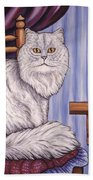Pewter The Cat Beach Towel