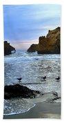 Pfeiffer Beach Big Sur Twilight Beach Towel