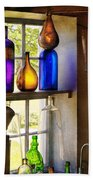 Pharmacy - Colorful Glassware  Beach Towel by Mike Savad